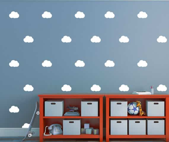 cloud wall decals - happy stickers
