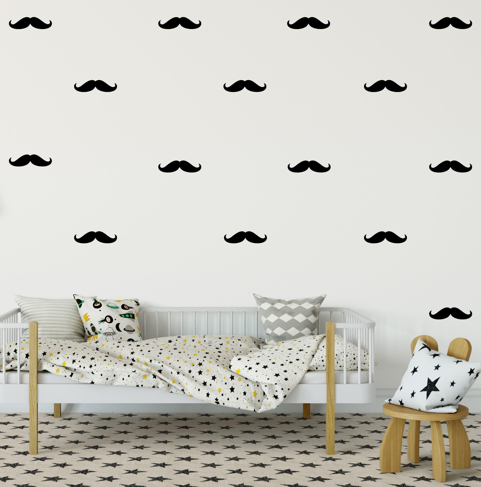 Moustache Wall Decal  sc 1 st  Happy Stickers & Moustache Wall Decal - Happy Stickers