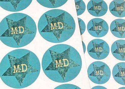 printed-labels-stickers-round-star-custom-bespoke-happy-stickers-dublin-ireland