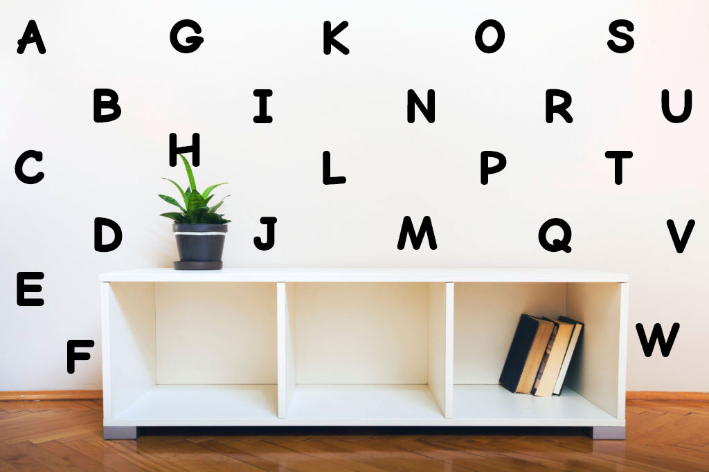 26 Alphabet Letter Vinyl Nursery Decals